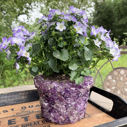 Tumbled Stone Flower Pot  (TUM-POT5)