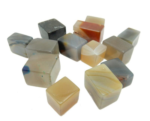 Agate - Agate Cubes - Natural Stone - Wonder Of Nature - Decor (RK128B5-06)