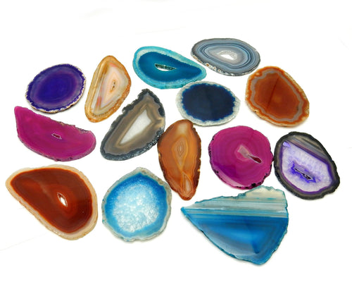Agate Slices - AGATE SLICE Assorted - Perfect For Gift, Art Projects Supplies - Brazilian Agate - Pendant Size #1
