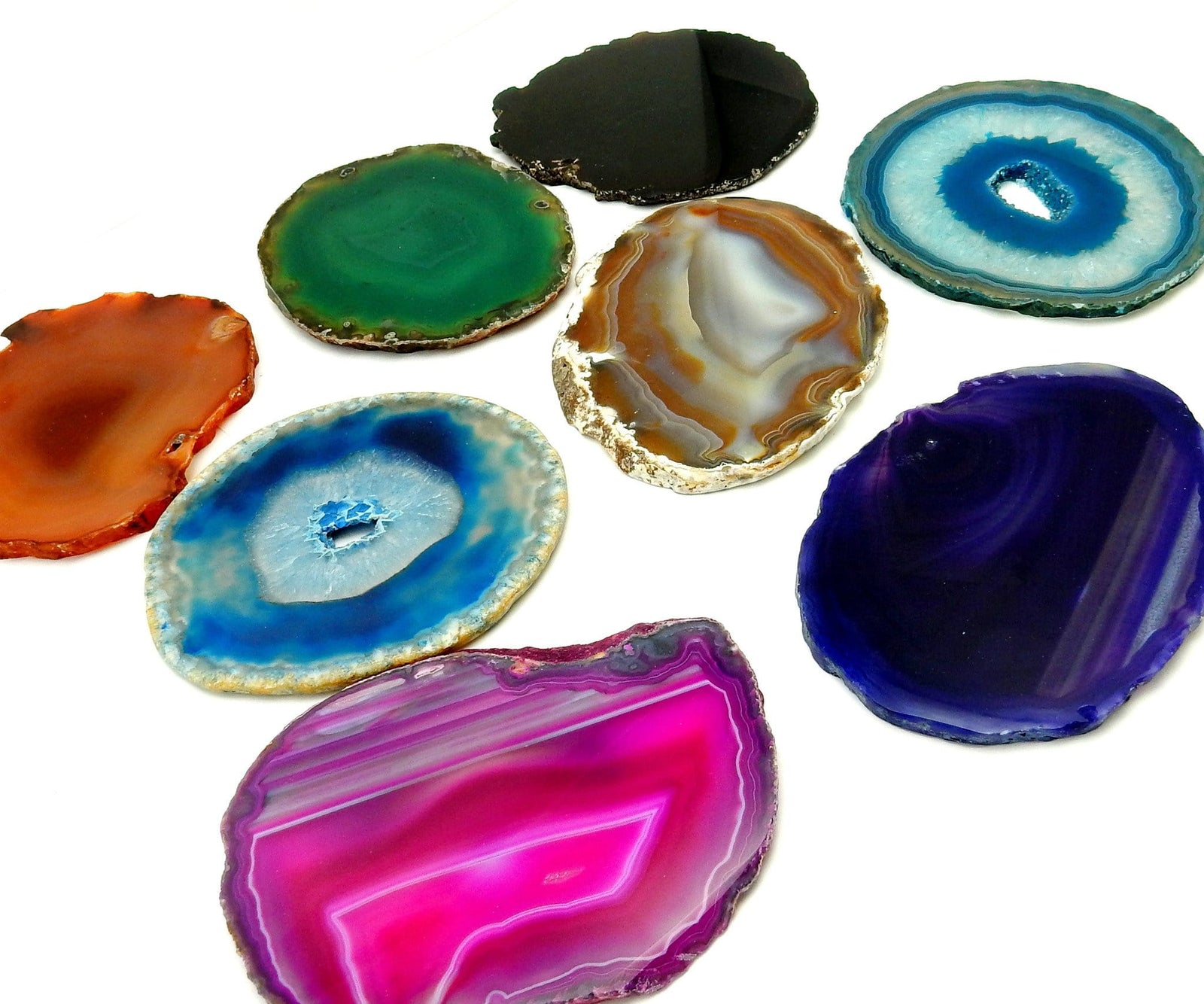 Agate Slices - AGATE SLICE Assorted - Perfect For Gift, Art Projects Supplies - Brazilian Agate - Size #3