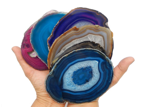 Agate Slices - Agate Slices Assorted - Agate Slice #6 - Beautiful Home Decor (AGBS)