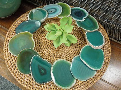 Agate Slices - Agate Slices -Top Drilled - Size #2 LARGE AGATE - Craft Supply - Gypsy Style - Quantity- 1, 5, 10, 25 Or 50 (RK186)
