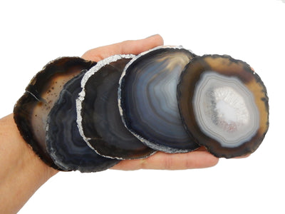 Agate Slices - Black Agate Slice - Agate Slices #3  (AGBS)