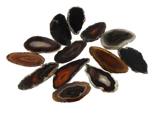 Agate Slices - Black Agate Slices - Size #00 - Craft Supply - Boho Style (AGBS)
