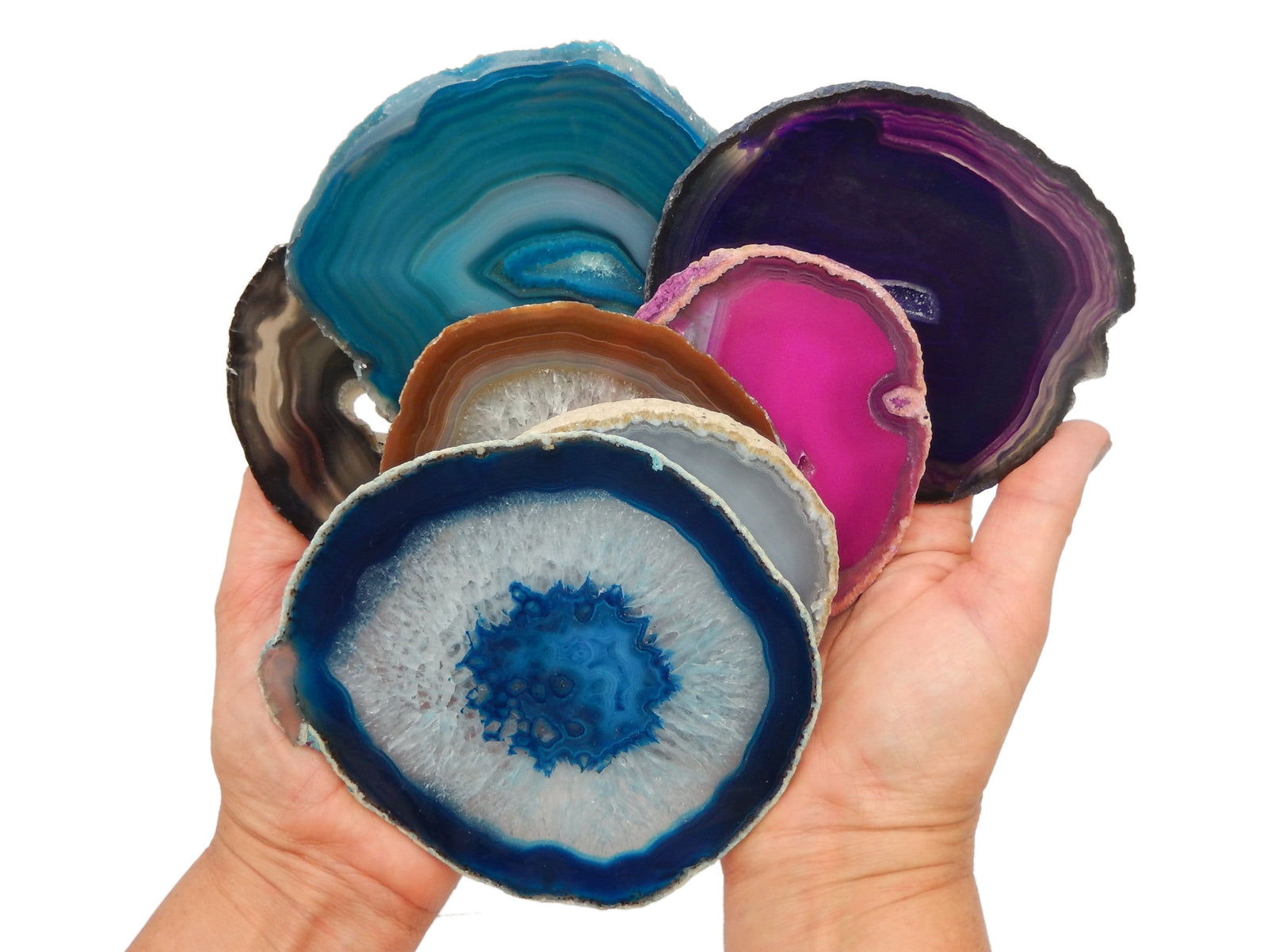 Agate Slices - Blue Agate Slice - Agate Slices #5 - Great For Coasters And Home Decor (AGBS)