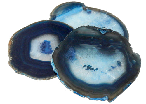 Agate Slices - Blue Agate Slice - Agate Slices #7 - Gorgeous Display (AGBS)