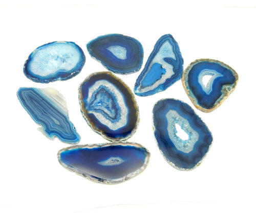 Agate Slices - Blue Agate Slice - Large Pendant Size - Agate Slices #0 - Great For Jewelry (AGBS)