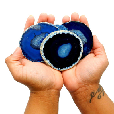 Agate Slices - Blue Agate Slice - Large Pendant Size - Agate Slices #2 - Great For Jewelry (AGBS)