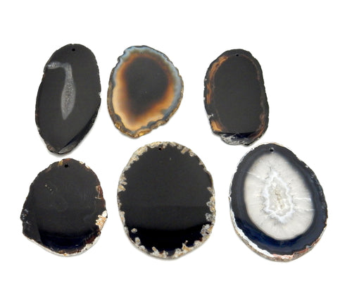 Agate Slices - Drilled AGATE SLICES BY COLOR- Perfect For Gift, Art Projects Supplies - Brazilian Agate - Pendant Size #0 (RK184)