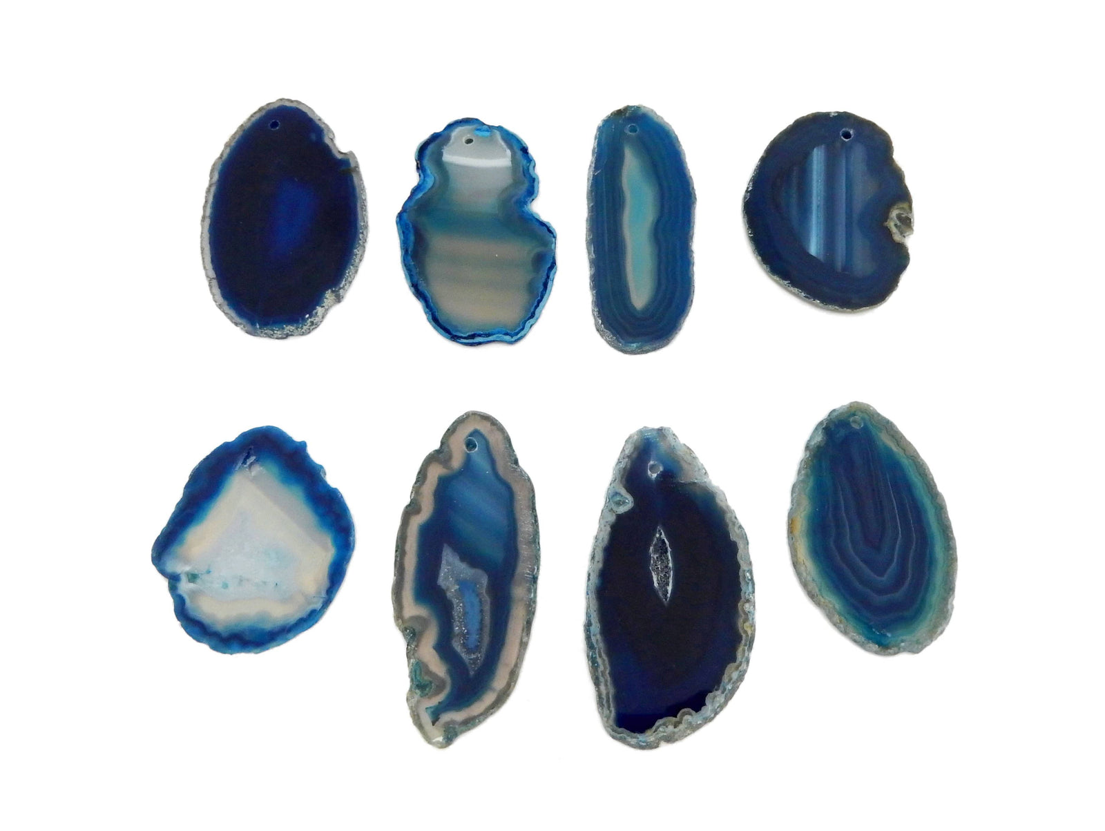 Agate Slices - Drilled AGATE SLICES BY COLOR- Perfect For Gift, Art Projects Supplies - Brazilian Agate - Pendant Size #00 (RK185)