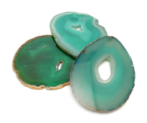 Agate Slices - Green Agate Slice - Agate Slices #4  (AGBS)