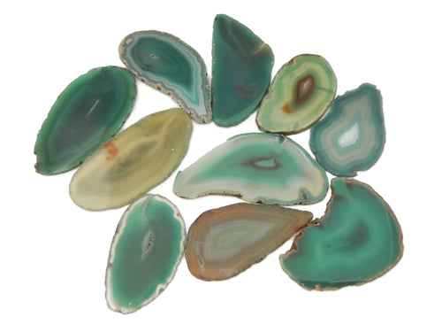 Agate Slices - Green Agate Slice - Large Pendant Size - Agate Slices #1 - Great For Jewelry (AGBS)