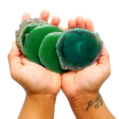 Agate Slices - Green Agate Slice - Large Pendant Size - Agate Slices #2 - Great For Jewelry (AGBS)