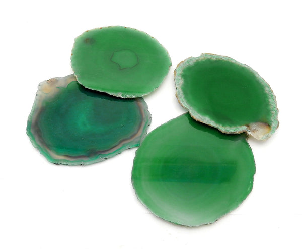Green Agate Slice Large Pendant Size Agate Slices 2