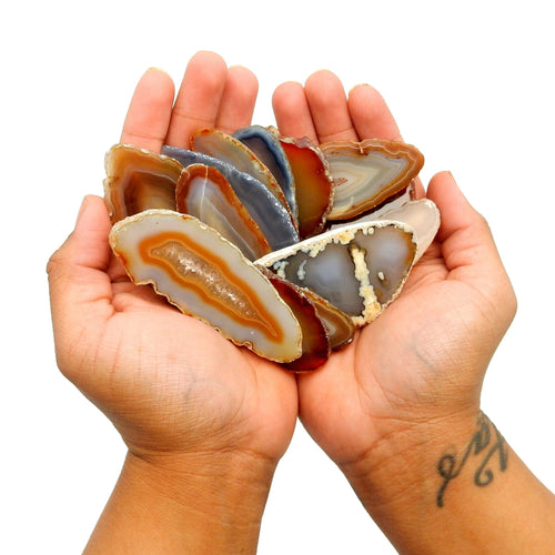 Agate Slices - Natural Agate Slice - Large Pendant Size - Agate Slices #0 - Great For Jewelry (AGBS)