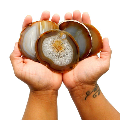 Agate Slices - Natural Agate Slice - Large Pendant Size - Agate Slices #2 - Great For Jewelry (AGBS)
