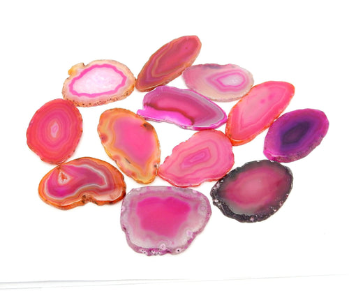 Agate Slices - Pink Agate Slices - Size 000 - Craft Supply - Boho Style (AGBS)