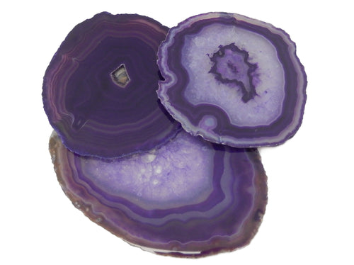 Agate Slices - Purple Agate Slice - Agate Slices #6 - Beautiful Home Decor (AGBS)