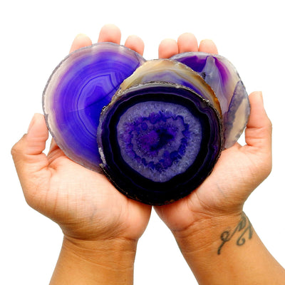 Agate Slices - Purple Agate Slice - Large Pendant Size - Agate Slices #2 - Great For Jewelry (AGBS)