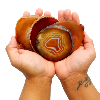 Agate Slices - Red Agate Slice - Large Pendant Size - Agate Slices #2 - Great For Jewelry (AGBS)