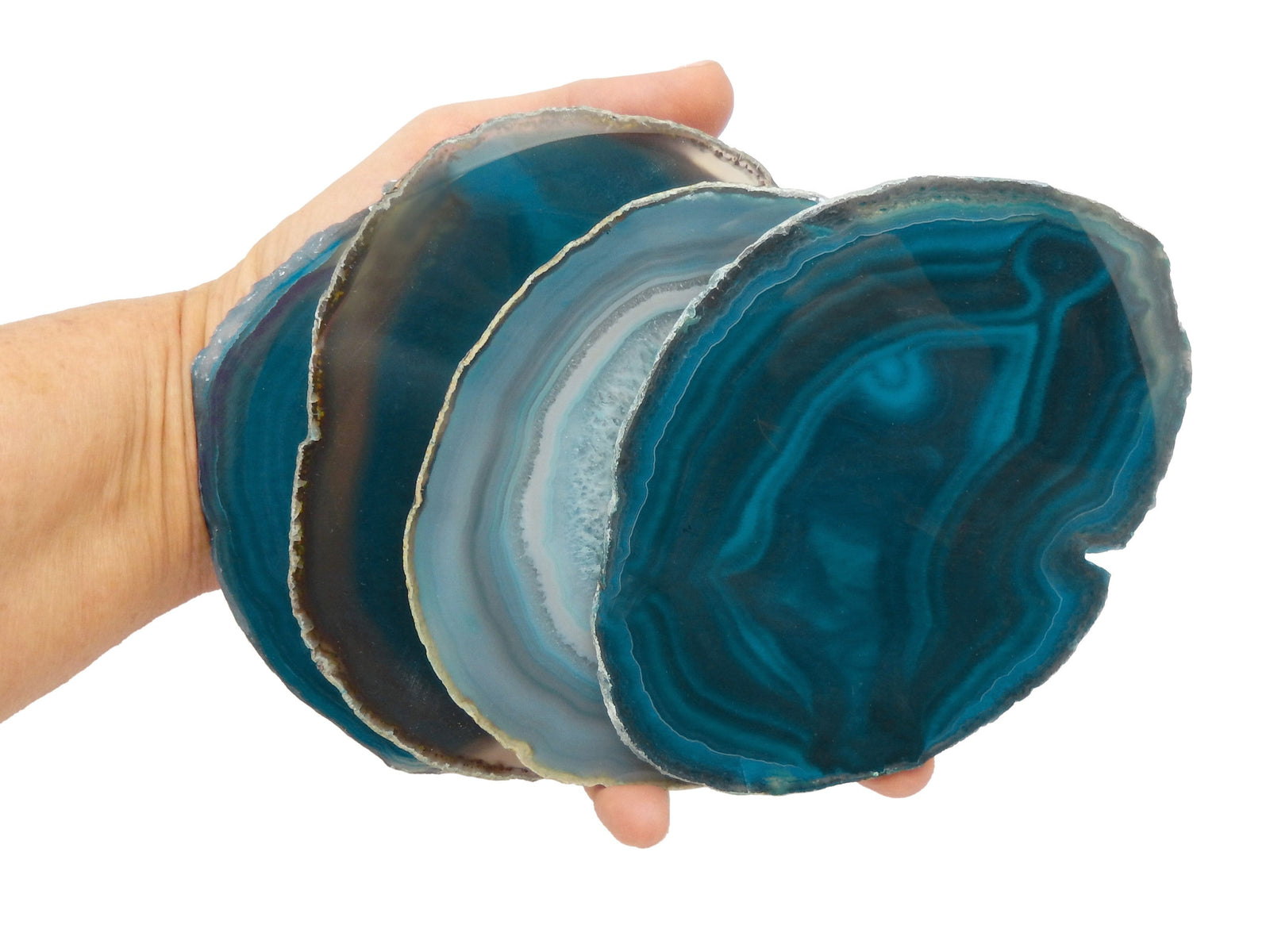 Agate Slices - Teal Agate Slice - Agate Slices #5 - Great For Coasters And Home Decor (AGBS)