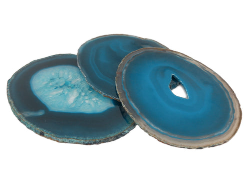 Agate Slices - Teal Agate Slice - Agate Slices #6 - Beautiful Home Decor (AGBS)