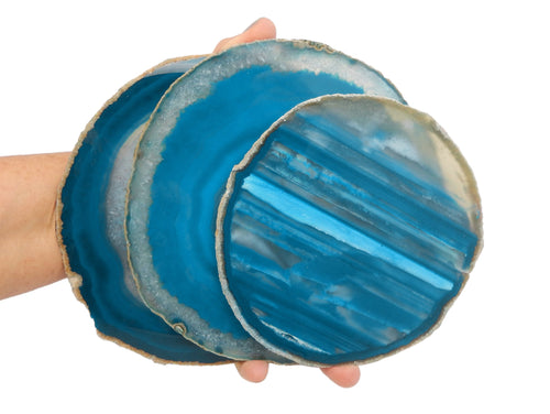 Agate Slices - Teal Agate Slice - Agate Slices #7 - Gorgeous Display (AGBS)