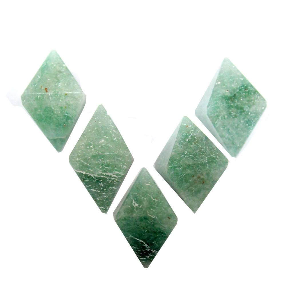 Amazonite - Amazonite Diamond Shaped Stone Point - Diamond Shaped Amazonite Perfect For Wire Wrapping - RK50B18b-05
