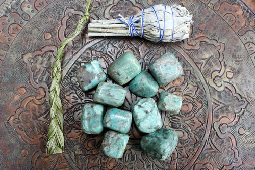 Amazonite - Amazonite Stone - Pakistan Amazonite - Energy Stone, Crystal Grid, Crystal Collection (TS-33)