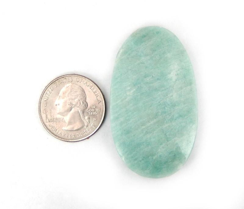 Amazonite Bead Top Side Drilled Large Cabochon Bead - (RK69B1-02)