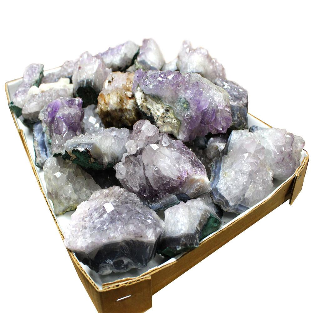 Amethyst Cluster - Amethyst Cluster 1 Pc Natural Amethyst Clusters From Brazil Large Size  - RK53B1b Wholesale Special