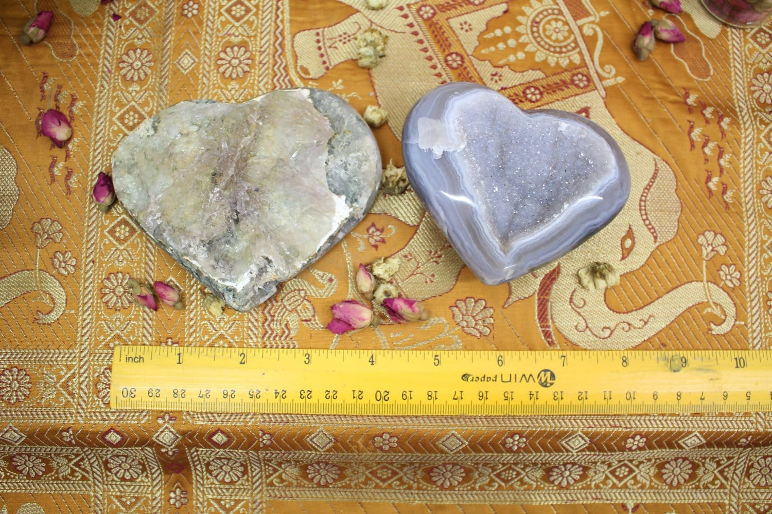 Amethyst Druzy Heart - You Choose - Home Decor - Chakra Stones And Crystals - Amethyst Druzy (RK125B7-03)