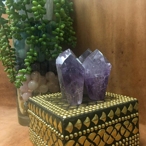Amethyst Quartz - Amethyst Quartz Freeform Point - Display - Paper Weight - (RK120B2)
