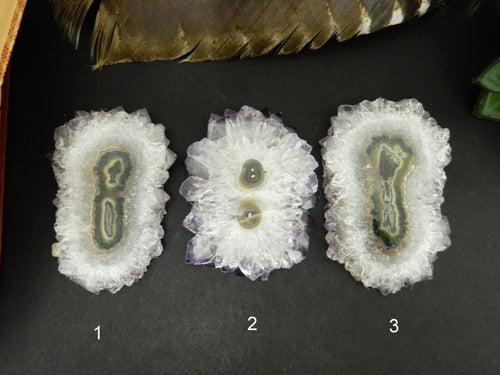 Amethyst Stalactite - Large Stalactite Slice - YOU CHOOSE -  Beautiful Formation Of Nature - (DOB1-21)