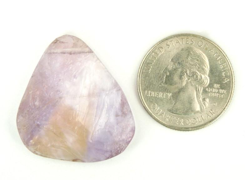 Ametrine Bead - Ametrine Top Side Drilled Stone Bead (RK22B3-07)
