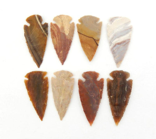 "Arrow Heads - Jasper Arrowhead - Raw Jasper 2"" Inch Arrow Head Perfect For Wire Wrapping-- (RK12B1-01)"