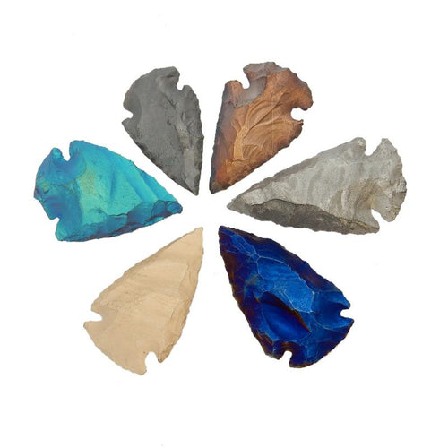 Arrowhead - Arrowhead - Mystic Titanium Arrowhead Perfect For Wire Wrapping-- (RK30B2)