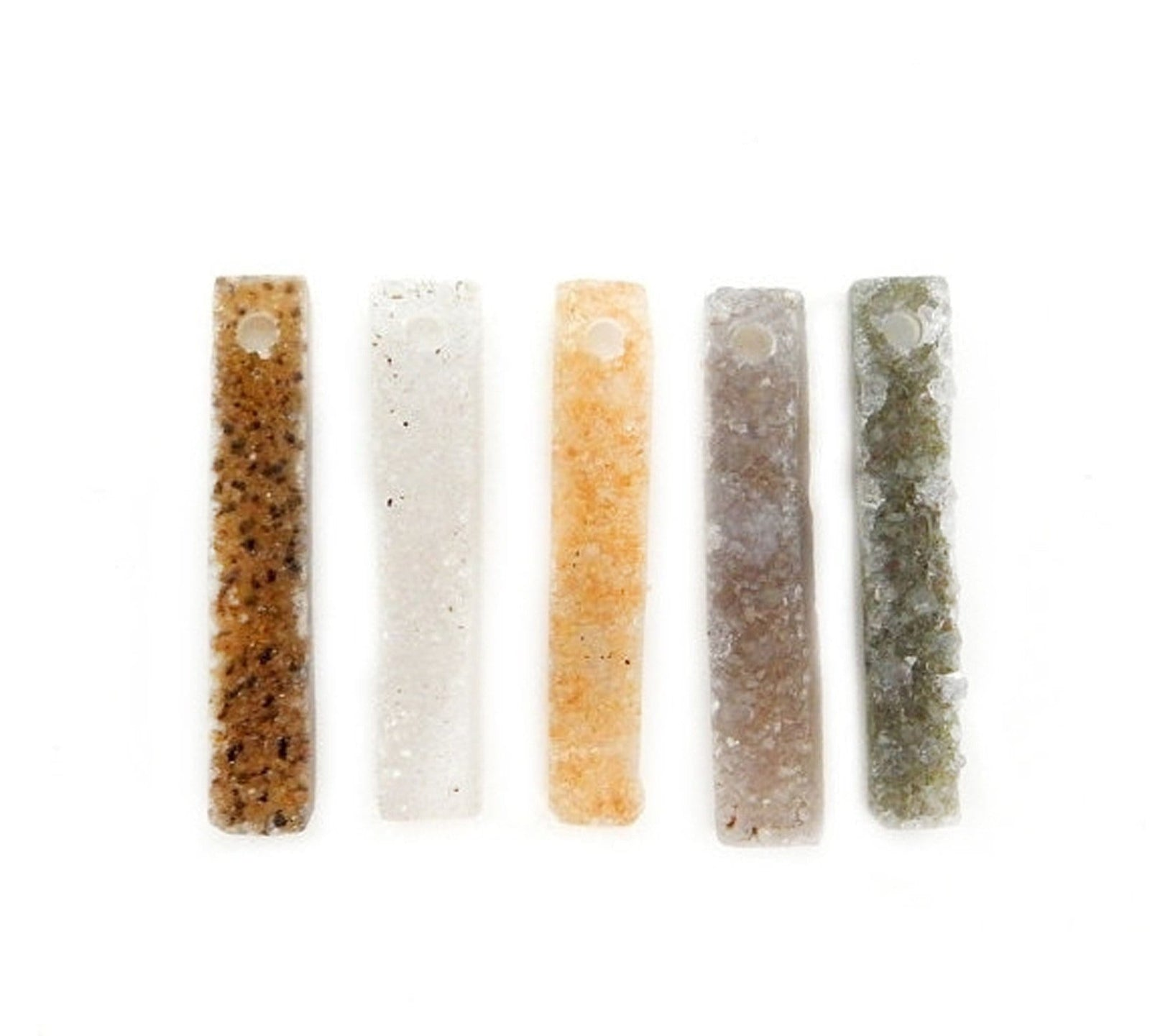 Beads - Druzy Bar Drilled - Druzy Stone - Druzy Top Center Drilled Bar Bead -- Beautiful Quality (RK7B17-03)