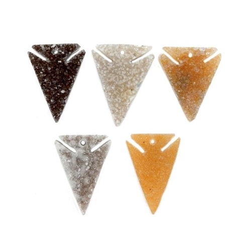 Beads - Triangle Druzy - Drilled