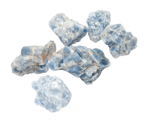 Blue Calcite - Blue Calcite - Chakra - Wire Wrapping - Stones - Crystal Grid (RK402B6)