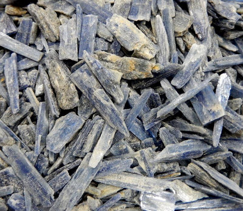 Blue Kyanite - Lb Blue Kyanite Blades - You Can Select 1/2 Pound Or One Full Pound Beautiful Blades From Brazil (RK32B9)