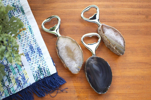 Bottle Opener - Agate Bottle Opener - Gypsy Decor - Agate Cutlery- Crystal Collection - Feng Shui (RK118B2)