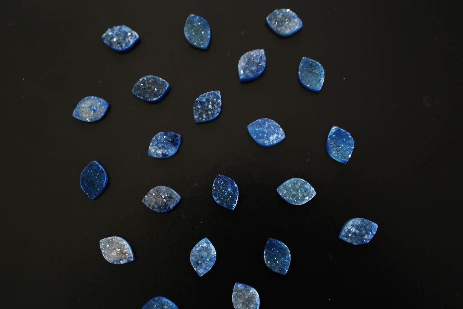 Cabochon - Blue Marquise Druzy Cabochon - Colorful Druzy Stone - Craft Supply - Perfect For Jewelry Making