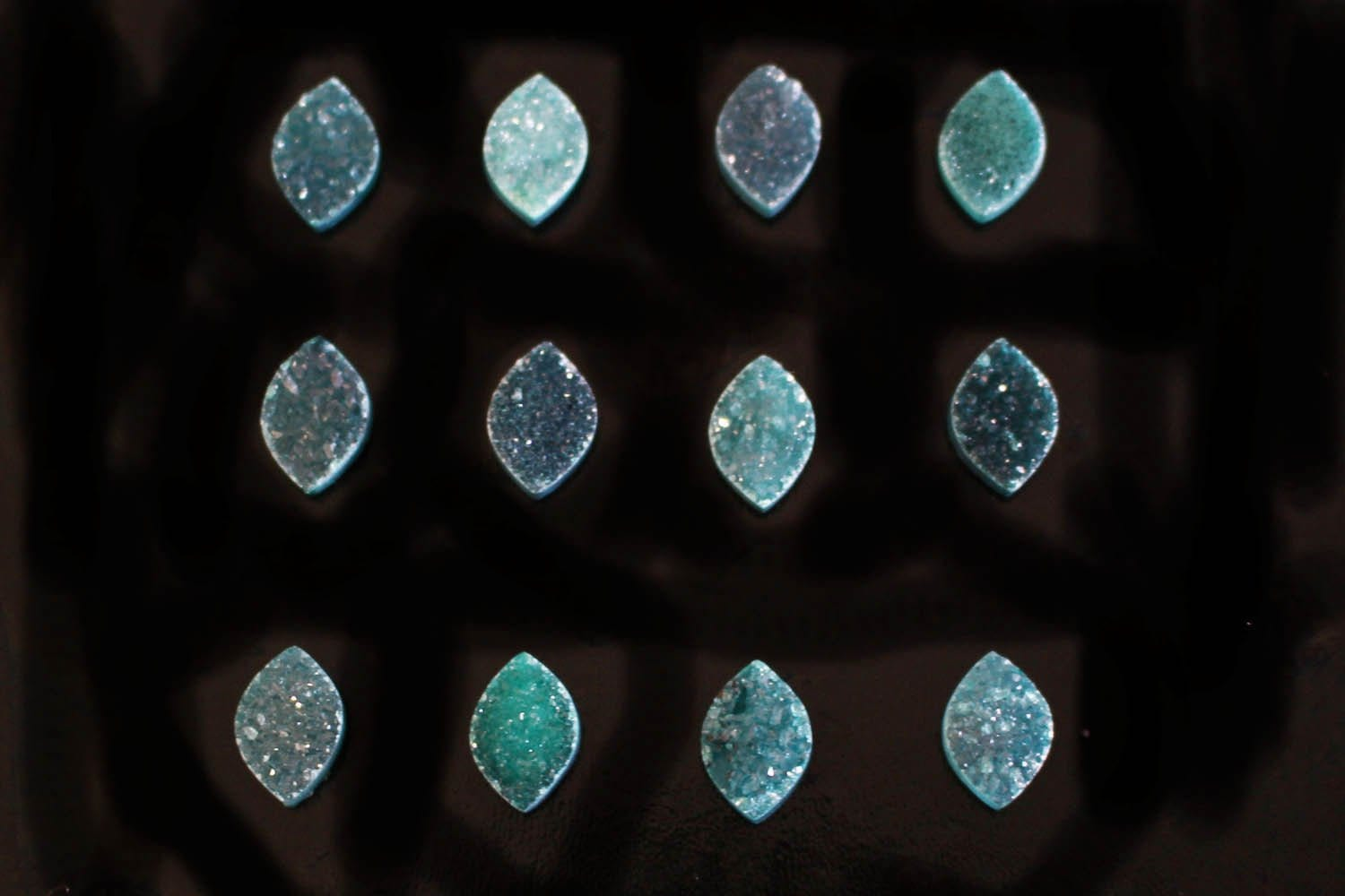 Cabochon - Green Marquise Druzy Cabochon - Colorful Druzy Stone - Craft Supply - Perfect For Jewelry Making
