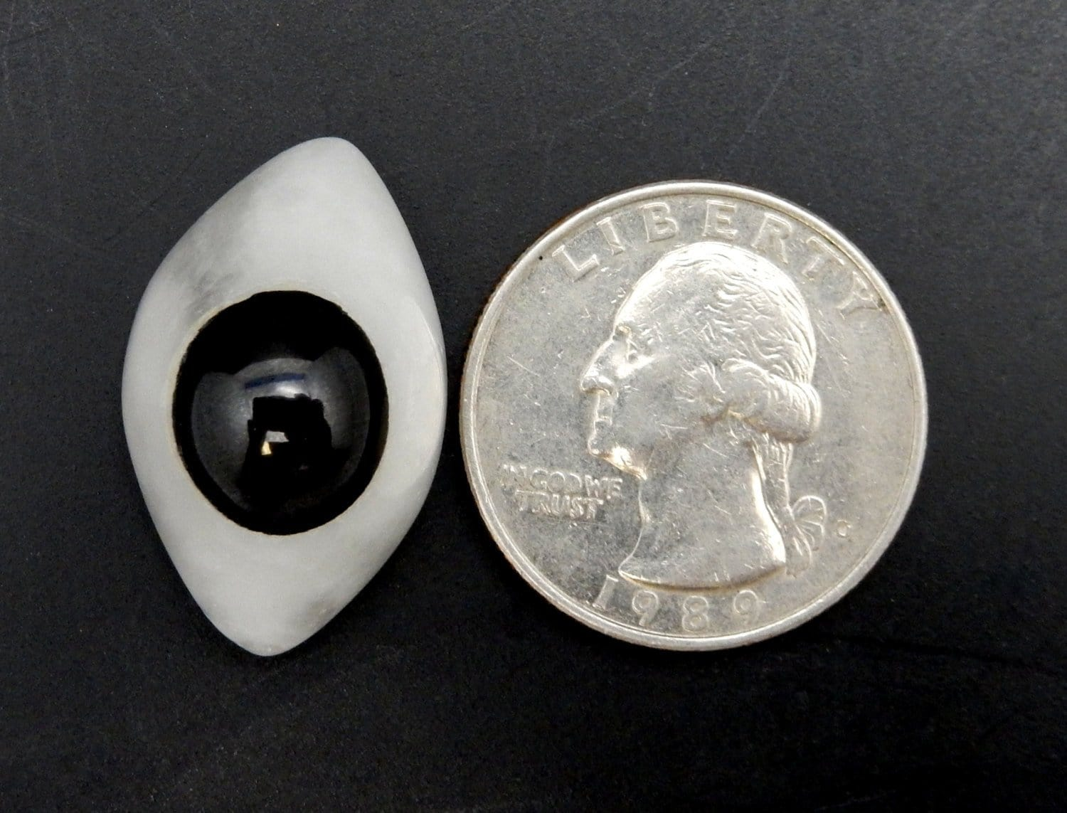 Cabochon - Shiva's Third Eye Cabochon- Shiva Third Eye Agate - White Shiva Lingum - Lord Shiva - Chakra - Metaphysical