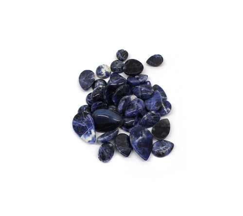 Cabochons - 1/4 Lb Bag Sodalite Mixed Shapes Cabochons - Jewelry Beads - Jewelry Making - Jewelry Craft Supplies (RK88B2)