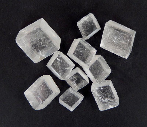 Calcite Cube - Petite Calcite Cube - Beautiful Calcite Cube Iceland Spar Optical Quartz (RK59B6)