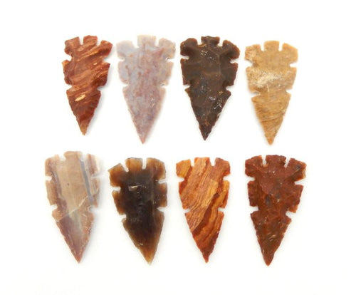 Carved Jasper Arrowhead - Amazing Jasper 2 Inch Arrowhead Perfect For Wire Wrapping--Arrow Heads Wholesale  (RK12B2-01)
