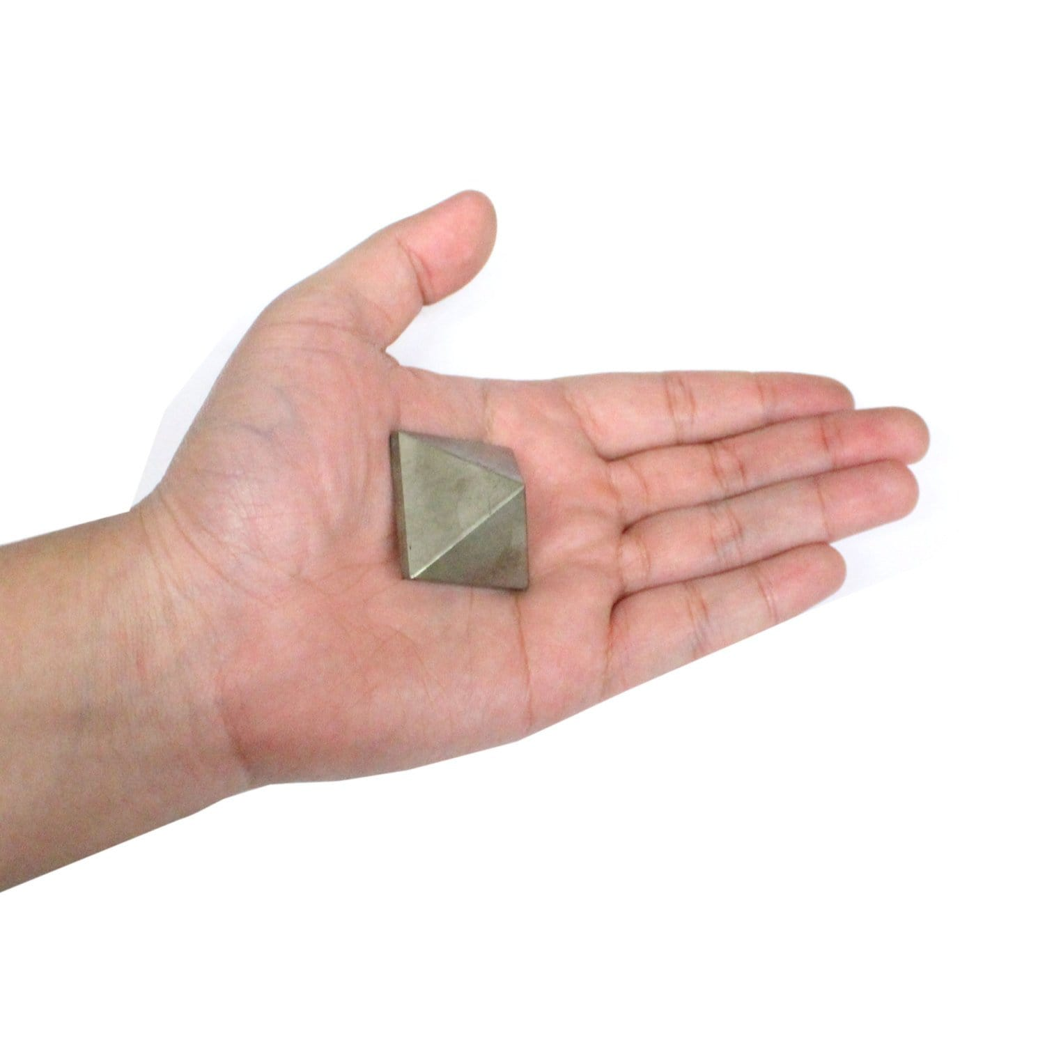 Chakra Pyramid - Pyrite Pyramid -- Pyramid Shaped Pyrite Stone - Reiki - Metaphysical - Crafting - Crystal Grid RK64B15