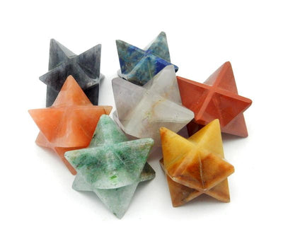 Chakra Set - Merkaba Star Set Of 7 Stars - Chakra Set - Merkabah Set - Metaphysical - Meditation  (BR-18)